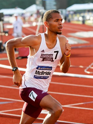 Mississippi State's Brandon McBride helped the team to an eighth place finish at the track and field championships.
