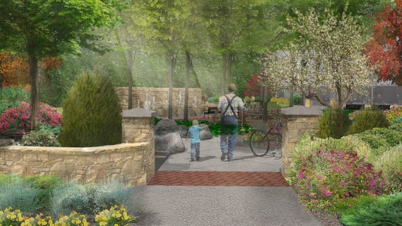 An artist's rendering of what newly renovated Cornerstone Park will look like.