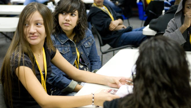 FILE PHOTO (2014): Foster leaders: The Be A Leader Foundation engaged more than 2,800 middle school and high school students in college-going programming focused on the critical steps needed to become college bound, focused and prepared.