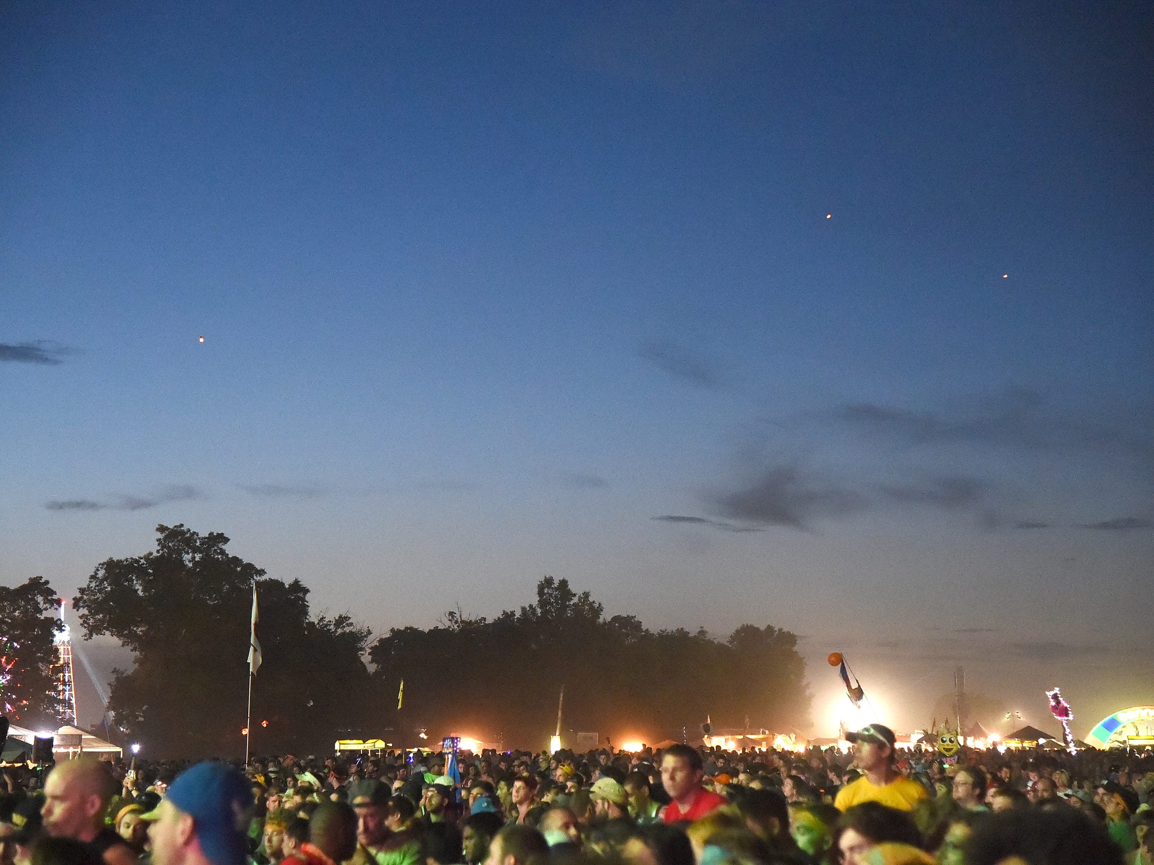 The night sky on June 14, 2015 iduring Bonnaroo.