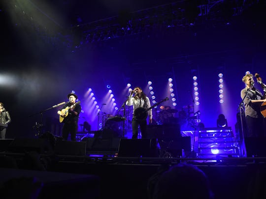 "Marcus Mumford of Mumford & Sons performs on the ""What"" stage during the 2015 Bonnaroo Music & Arts Festival on June 13, 2015 in Manchester, Tennessee."