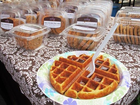 A gluten-free Paleo Belgian waffle is shown Dec. 17