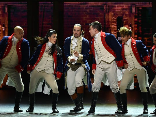 Lin-Manuel Miranda and the cast of Broadway's'Hamilton'