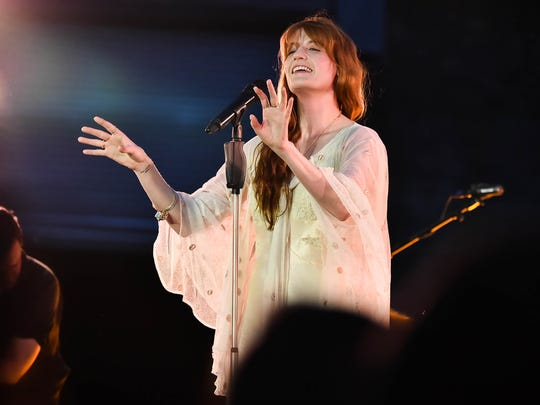 Florence Welch of Florence + The Machine performs onstage during a Spotify Premium intimate event June 24 in Brooklyn, New York.
