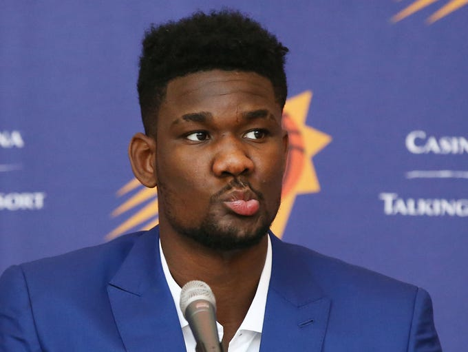 Phoenix Suns number one draft pick Deandre Ayton addresses