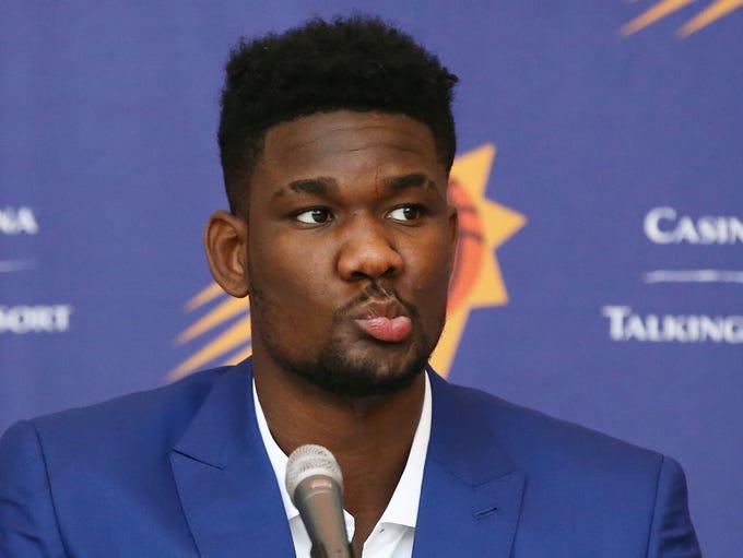 Phoenix Suns number one draft pick Deandre Ayton addresses