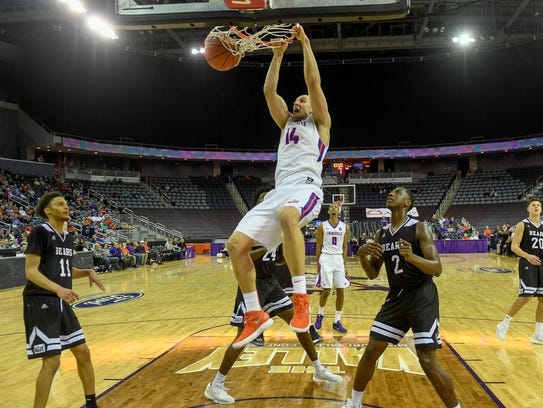 The Aces beat preseason MVC favorite Missouri State on Jan. 10 with an announced crowd of 3,237 in attendance.