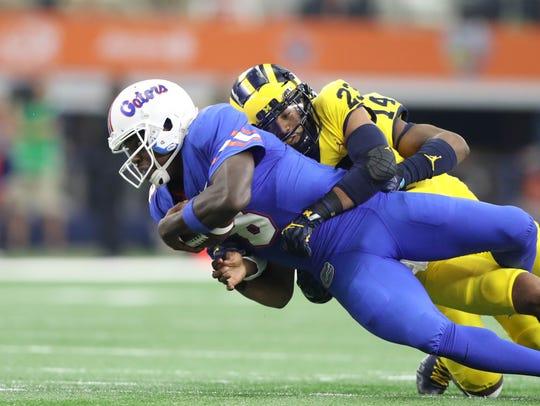 Michigan's Tyree Kinnel sacks Florida's Malik Zaire