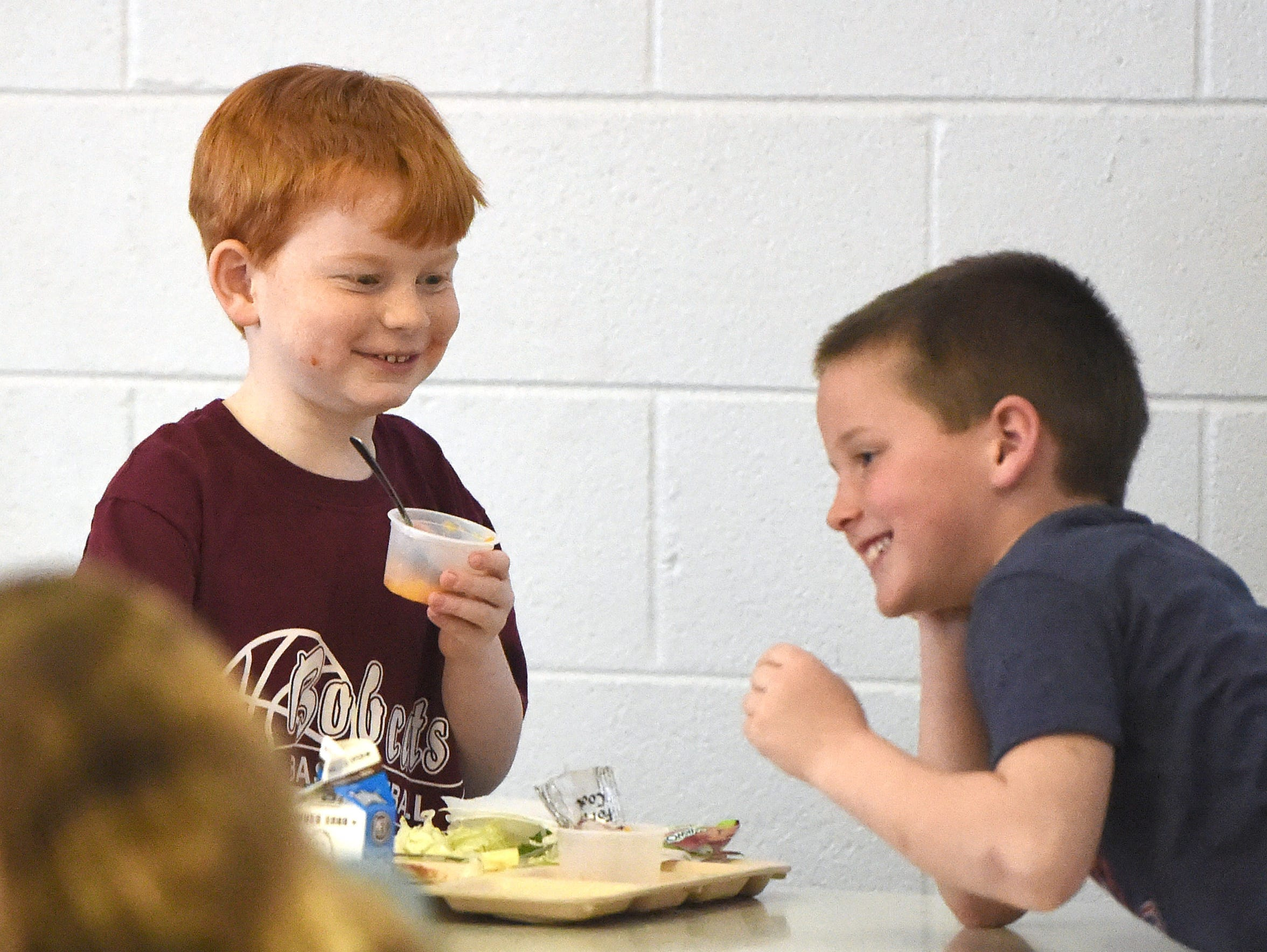 Highland County second graders Tristan Carpenter and