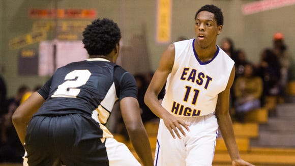 East High's Windell Lucas helped propel the Eagles