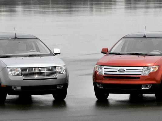 File Photo Shows The  Lincoln Mkx Left And  Ford Edge In Dearborn Mich Ford On Wednesday Oct   Said Its Recalling About