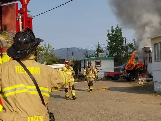 A fire that started in a trailer on Twin View Boulevard