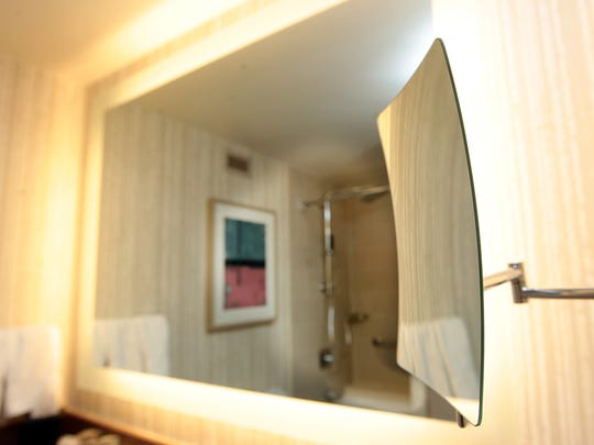 Renovated rooms at the Westin feature new makeup mirrors and backlit mirrors.