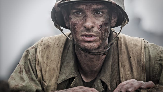 "Andrew Garfield in a scene from ""Hacksaw Ridge."""