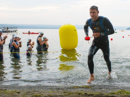 Cayuga Lake Triathlon 2014 Taughannock State Park