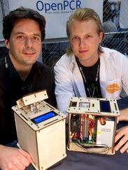 Josh Perfetto and Tito Jankowski, co-founders of OpenPCR,