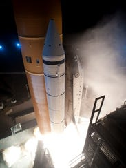 Producing about 3 million pounds of thrust each, two