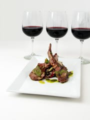 Gusty chimichurri balances the richness of lamb lollipops that are paired with Taste of Bistro's flight of 3-ounce pours.