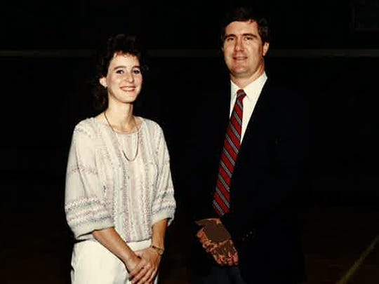 Bob Stevens (right) will be inducted to the Louisiana High School Sports Hall of Fame Wednesday in Baton Rouge as a player and a coach. Stevens is pictured here with former assistant Stacy Adams.