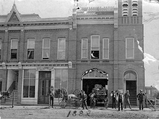 Fort Collins' first fire station, 223 Walnut St., in 1888.