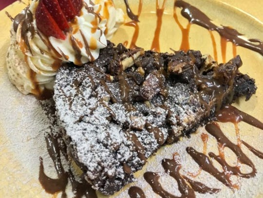 Ancho brownies from Elote Cafe in Sedona.
