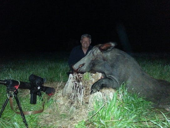 Chip Tatum, of Hattiesburg, is noted for hunting wild