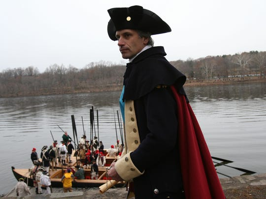 Branchburg resident, Ron Rinaldi, has participated in the re-enactment of General George Washington crossing the Delaware River for four decades. In 2007, above, and 2008, he portrayed Washington. He and his sons will again participate in this Christmas Day in the re-enactment conducted at Washington Crossing Historic Park.