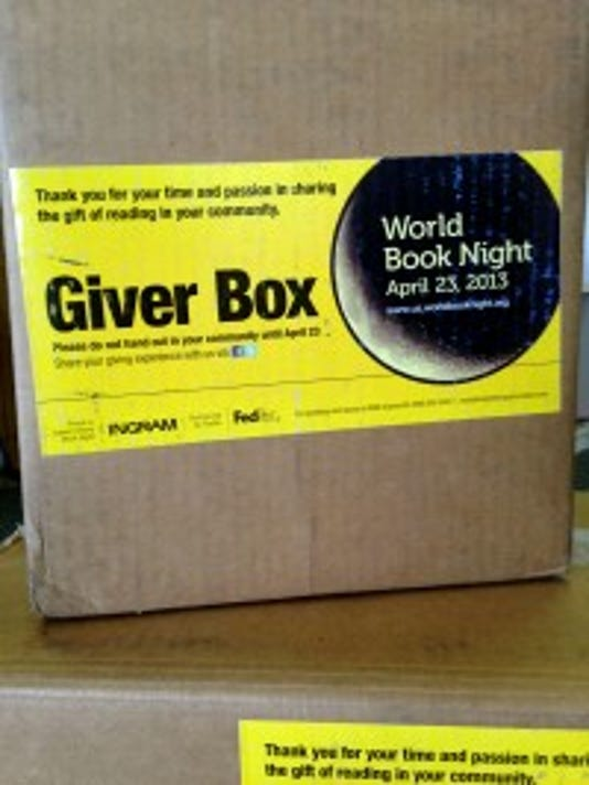 Boxes of books sit in Irvin's in 2012 waiting to be picked up and distributed by volunteer givers. (DAILY RECORD/SUNDAY NEWS -- FILE)