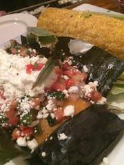 Black bean and goat cheese tamales at Boscos.