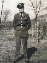 A young William R. Gail posed in his military uniform.
