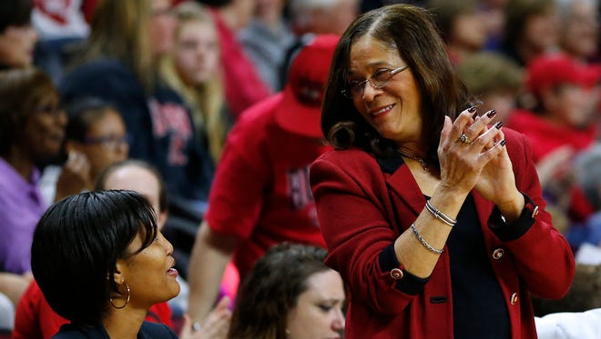 Rutgers head coach C. Vivian Stringer became the winningest coach in Big Ten history Thursday. Stringer coached at Iowa from 1983-95.