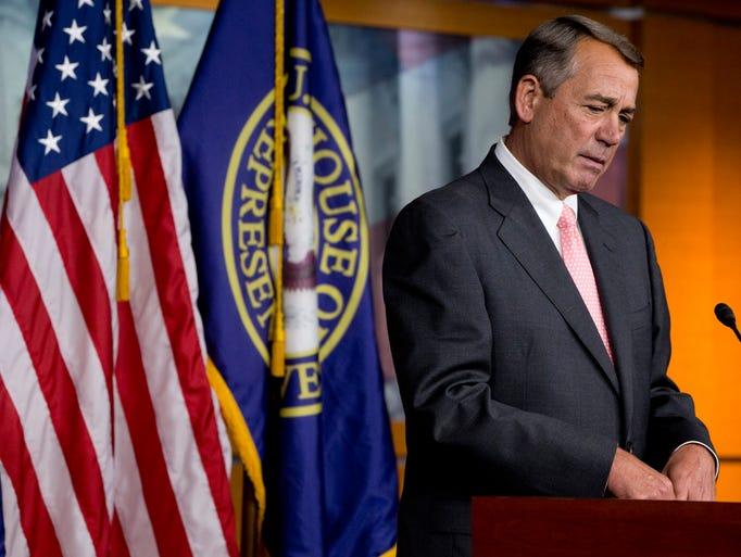 Speaker John Boehner announced his resignation from