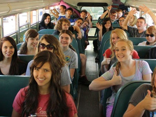 AHA students get ready for a recent school outing.
