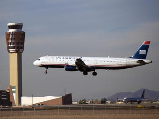 A US Airways plane at Phoenix Sky Harbor International Airport