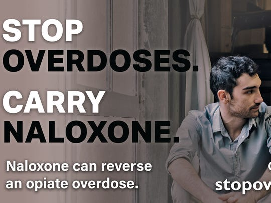 The Ohio Health Department will encourage people to recognize overdose, call 911 and save lives with naloxone in a campaign beginning Monday. Here's a billboard you might see in Cincinnati.