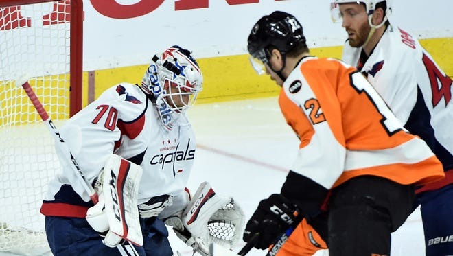 Washington Capitals goalie Braden Holtby has allowed two goals on 93 shots in the first-round series.