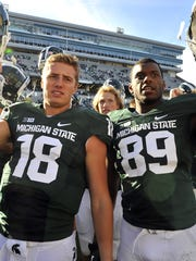 Connor Cook, left, and Shilique Calhoun, right, had been staples of MSU's lineup since 2013 and faces of the program just about as long.