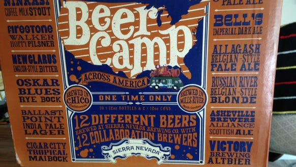 The Sierra Nevada Beer Camp sampler