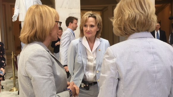 Sen. Cindy Hyde-Smith, R-Miss., joined her colleagues