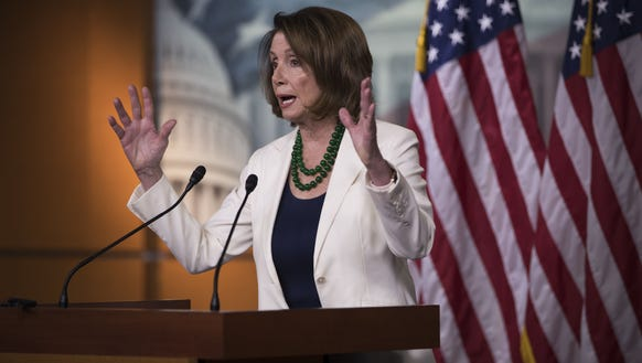 House Minority Leader Nancy Pelosi, D-Calif., holds