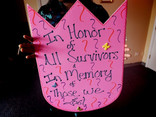 A breast cancer sign.