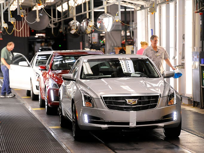 Cadillac Ats Coupe Rolling Off Lansing Assembly Line