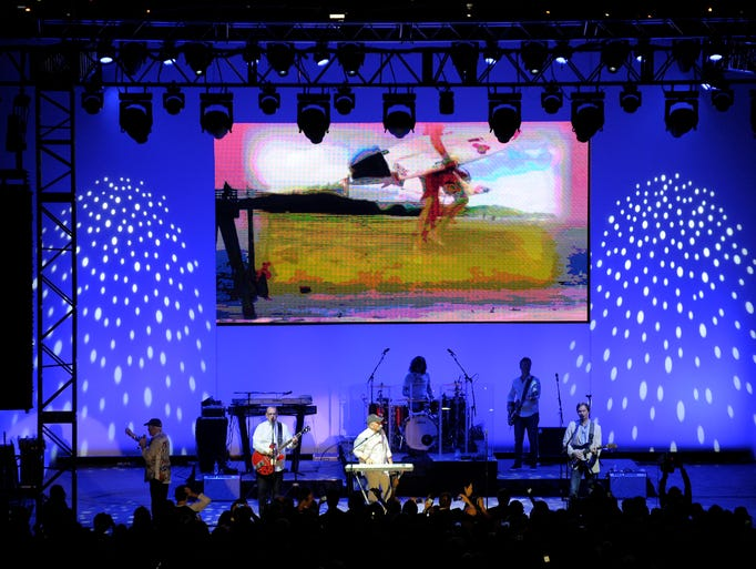 The Beach Boys perform in The Atrium during the 2017
