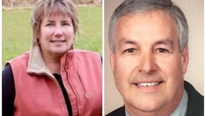 State Sen. Anne Gobi and challenger Steven Hall