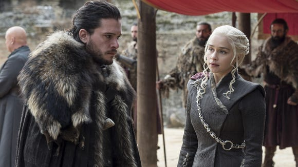 Jon and Dany's relationship continues to grow, as he still doesn't know the truth about his parentage.