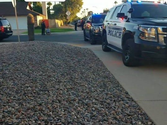 Arrest scene
