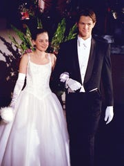 Alexis Bledel as Rory Gilmore and Jared Padalecki as Dean in WB's Gilmore Girls in 2001.