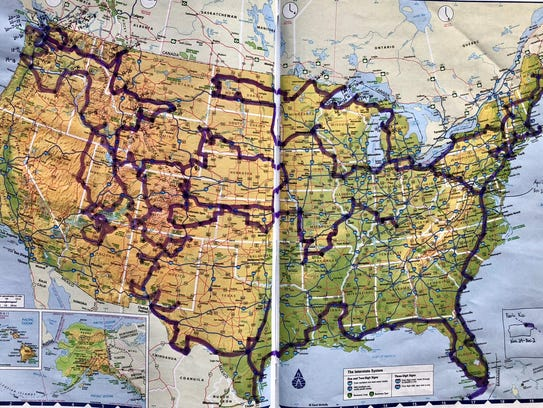 Map of Mikah Meyer's travels