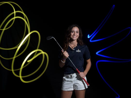 Andie Smith of The Pine School, all-area girls golf finalist.