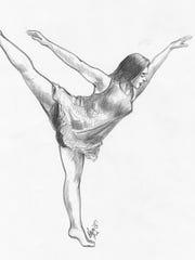 University of Iowa dancer Courtney Fleming